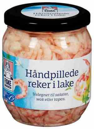 Prøv også Fiskemannen Reker håndpillede i lake.