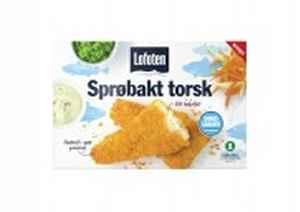 Bilde av Lofoten sprøpanert torsk.