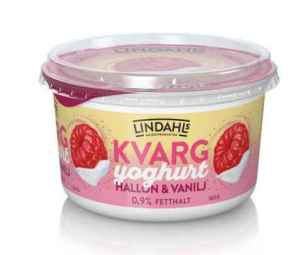 Prøv også Lindahls kvargyoghurt bringebær og vanilje.