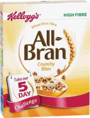 Prøv også Kelloggs all bran crunchy bites.
