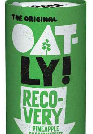 Prøv også Oatly recovery ananas, pasjonsfrukt og spirulina.