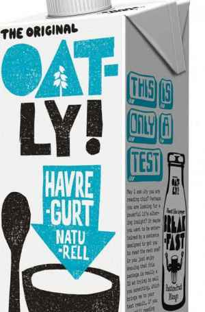 Prøv også Oatly havregurt naturell.