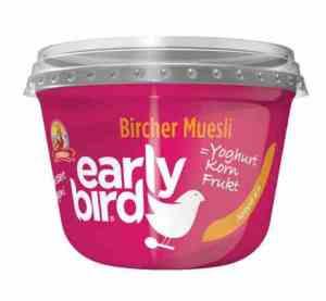 Prøv også Synnøve Early Bird Bircher Müsli med yoghurt, jordbær og havre.