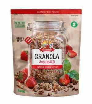 Prøv også Synnøve granola jordbær.
