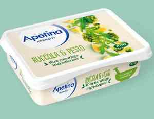 Prøv også Arla Apetina Kremost ruccula og pesto.