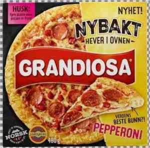 Prøv også Grandiosa nybakt pepperoni.