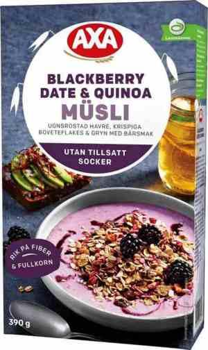Prøv også Axa Bjørnebær, dadler & quinoa.