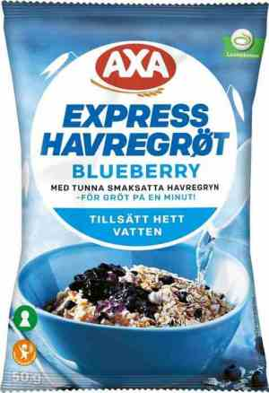 Prøv også Axa Havregrøt Blåbær.