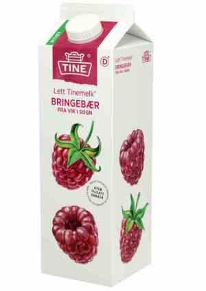 Prøv også Tine melk med bringebær fra Vik i Sogn.