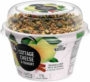 Prøv også Tine 14 Cottage Cheese og yoghurt eple/kanel.