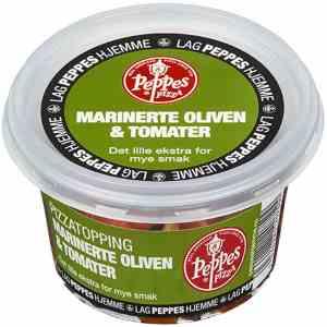 Prøv også Peppes marinerte oliven & tomater.