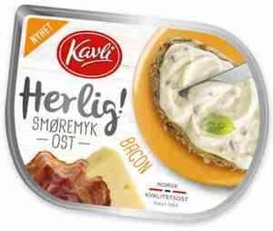 Prøv også Kavli herlig bacon smøremyk ost.