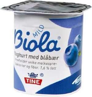 Bilde av Tine Biola Yoghurt Blåbær.