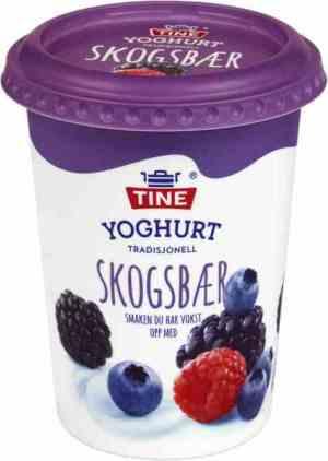 Prøv også TINE Yoghurt Skogsbær.