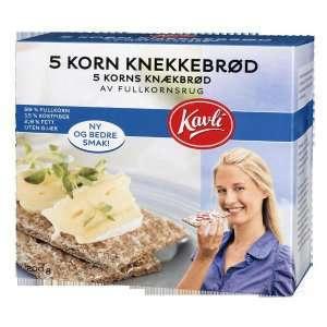 Prøv også Kavli 5 korn knekkebrød.