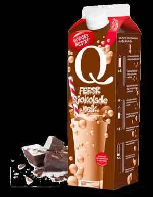 Prøv også Q fersk sjokolademelk.