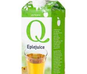 Prøv også Q eplejuice.