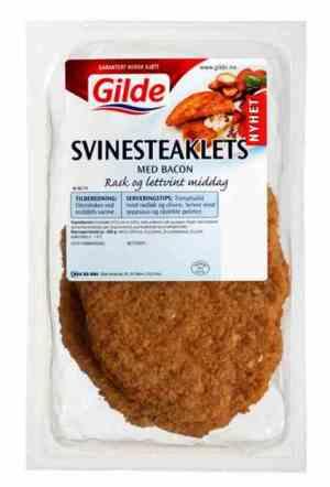 Prøv også Gilde Svinesteaklets med bacon.