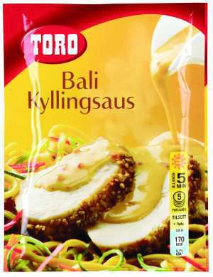 Prøv også Toro bali kyllingsaus tillagd.