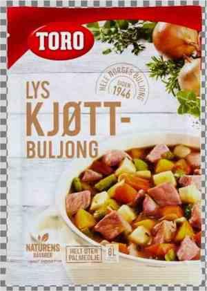 Prøv også Toro Lys Kjøttbuljong pulver.