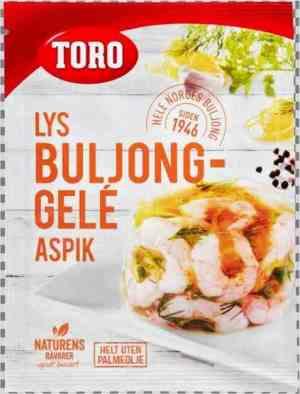 Prøv også Toro lys buljong-gele aspik.