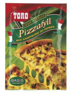 Bilde av Toro pizzafyll med sjampinjong og paprika.