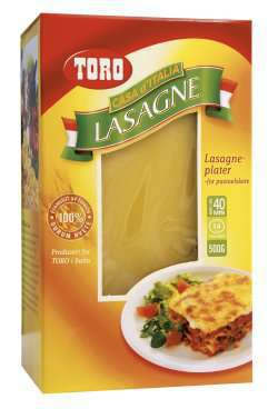 Bilde av Toro lasagneplater.