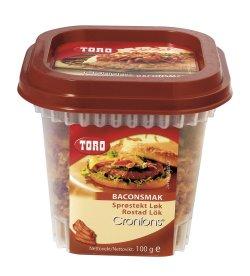 Prøv også Toro Cronions sprøstekt løk med baconsmak.