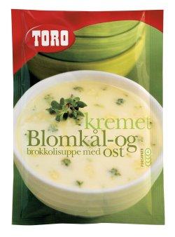Prøv også Toro kremet blomkål og brokkolisuppe med ost.
