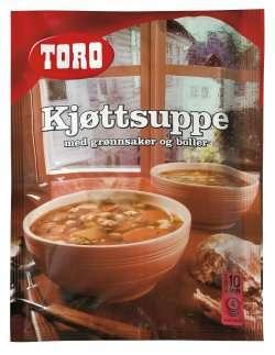 Bilde av Toro kjøttsuppe med grønnsaker og boller.