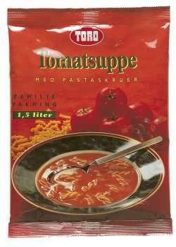 Bilde av Toro tomatsuppe med pastaskruer.