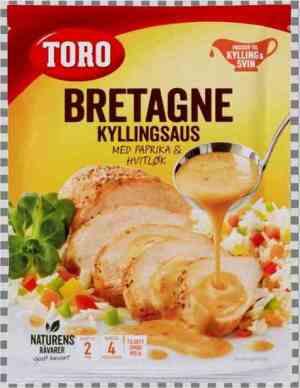 Prøv også Toro bretagne kyllingsaus med paprika og hvitløk.