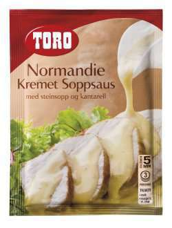 Prøv også Toro Normandie kremet soppsaus med steinsopp og kantarell.