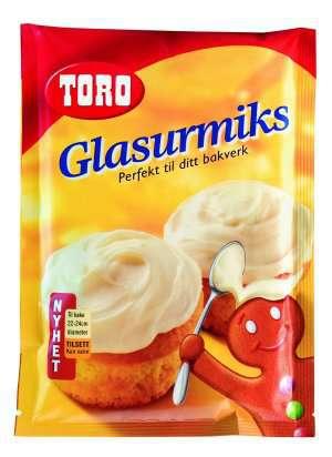 Prøv også Toro glasurmiks melisglasur.