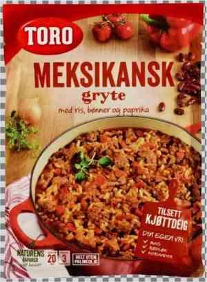 Prøv også Toro meksikansk gryte med ris.