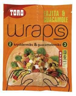 Prøv også Toro wraps fajita & guacamole.