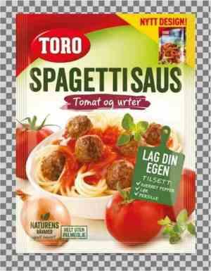 Prøv også Toro spagettisaus.