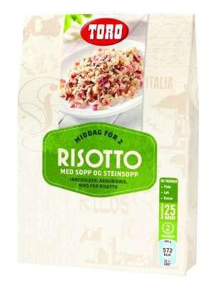 Prøv også Toro risotto med sopp og steinsopp.