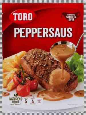Prøv også Toro peppersaus.