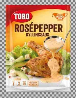 Prøv også Toro rosepeppersaus.