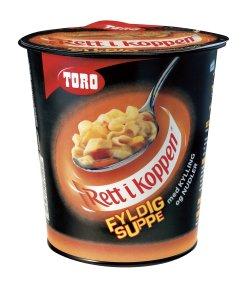 Bilde av Toro Rett i Koppen Fyldig suppe med kylling og nudler.