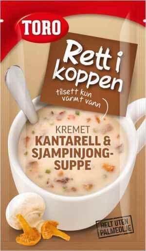 Prøv også Toro Rett i Koppen Kremet kantarell og sjampinjongsuppe.