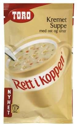 Bilde av Toro Rett i Koppen Kremet suppe med ost og urter.