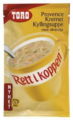 Bilde av Toro Rett i Koppen Provence kremet kyllingsuppe med olivenolje.