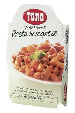 Prøv også Toro velbekomme pasta bolognese.
