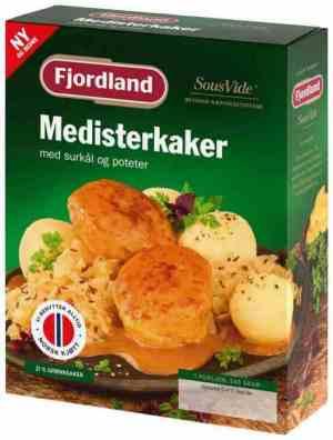 Prøv også Fjordland Medisterkaker med surkål og poteter.