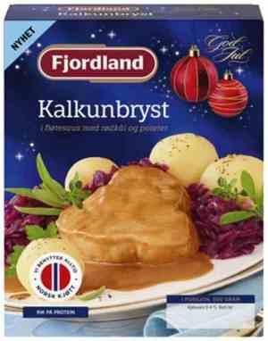 Prøv også Fjordland Kalkunbryst med rødkål og poteter.