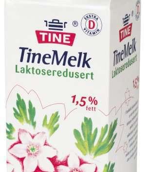 Prøv også Lettmelk, laktoseredusert, 1,2 % fett.