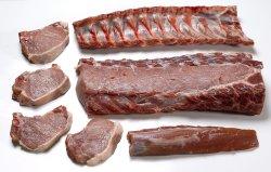 Bilde av Svin, kotelett, kam, svinekoteletter, inntil 5 mm fettrand, rå.