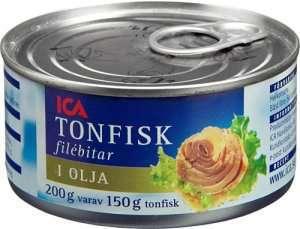 Prøv også Tunfisk, i olje, avrent, hermetisk.